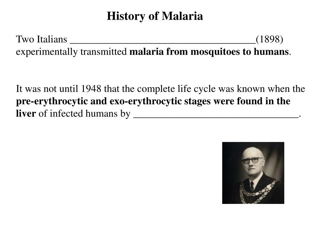 History of Malaria