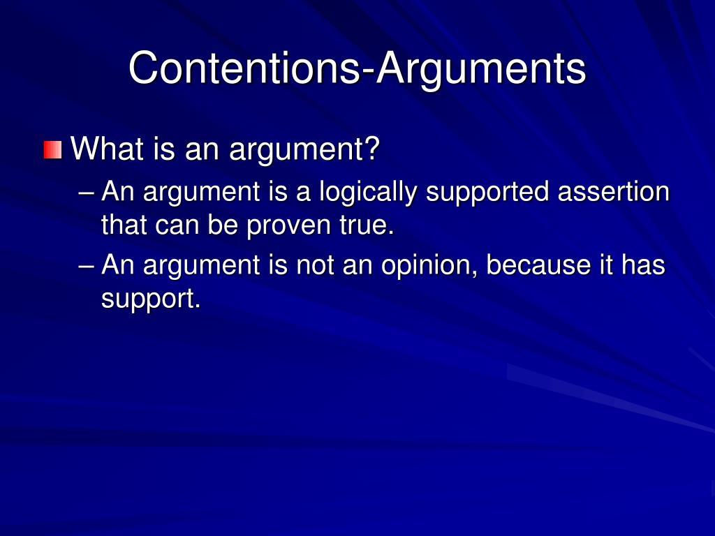 Contentions-Arguments