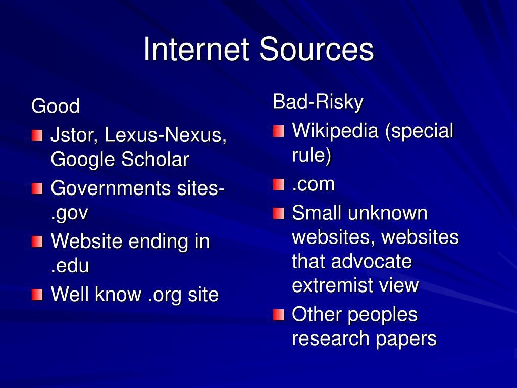 Internet Sources