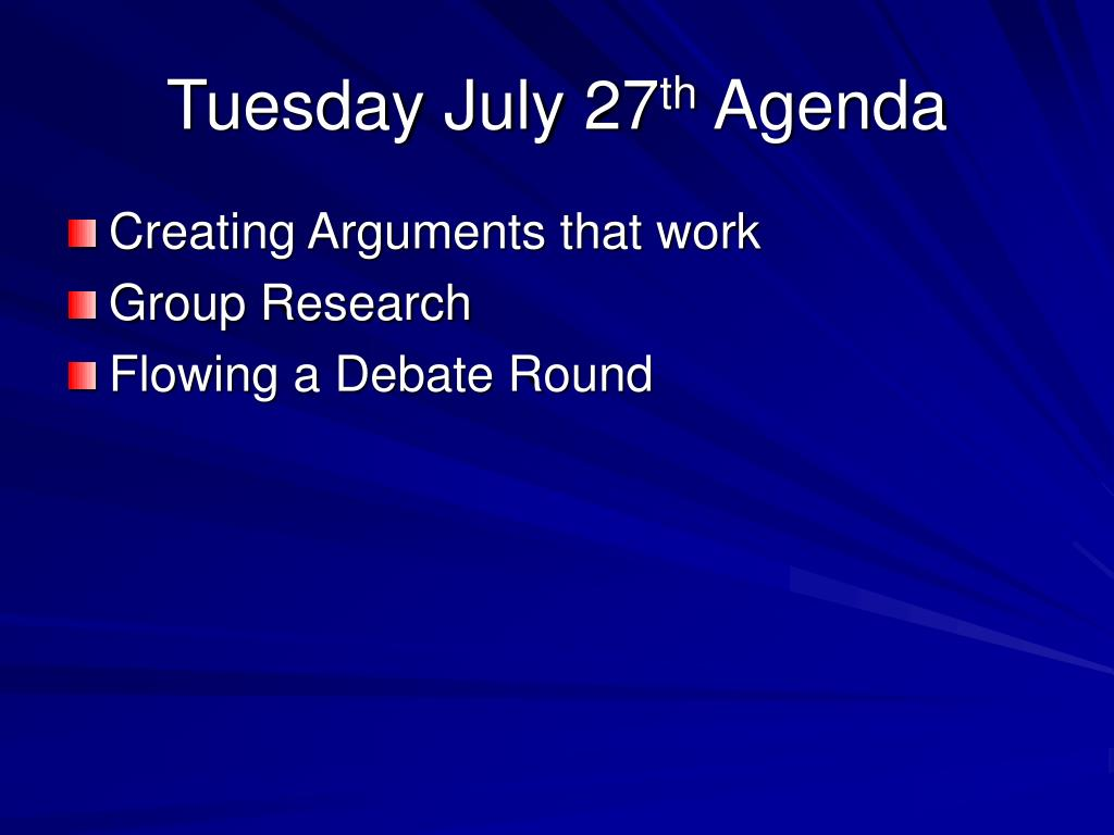 Tuesday July 27
