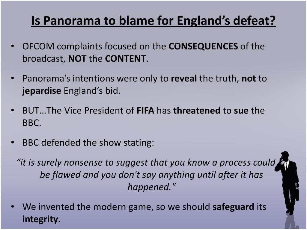 Is Panorama to blame for England's defeat?