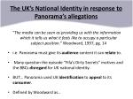the uk s national identity in response to panorama s allegations