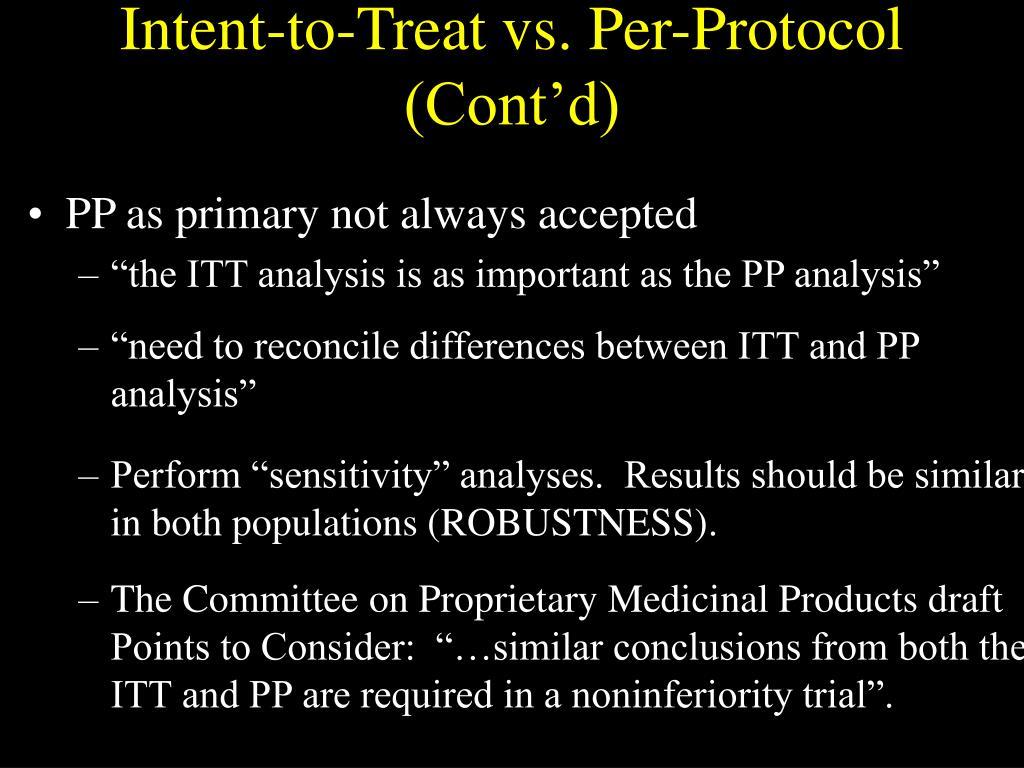 Intent-to-Treat vs. Per-Protocol (Cont'd)