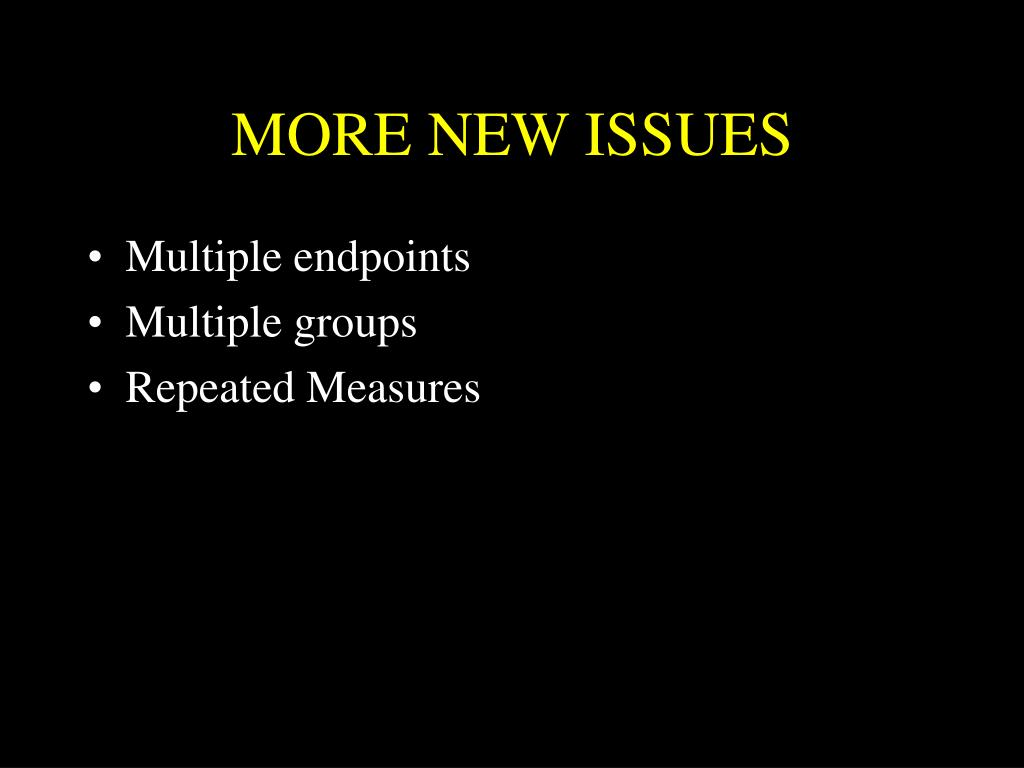 MORE NEW ISSUES
