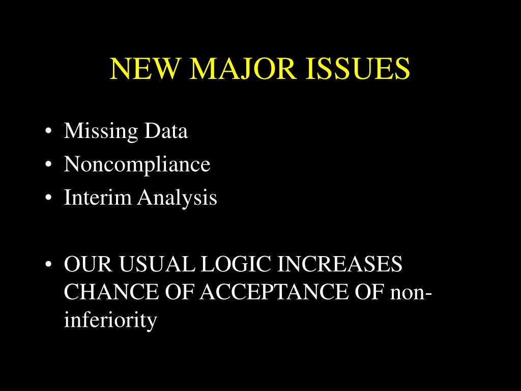 NEW MAJOR ISSUES