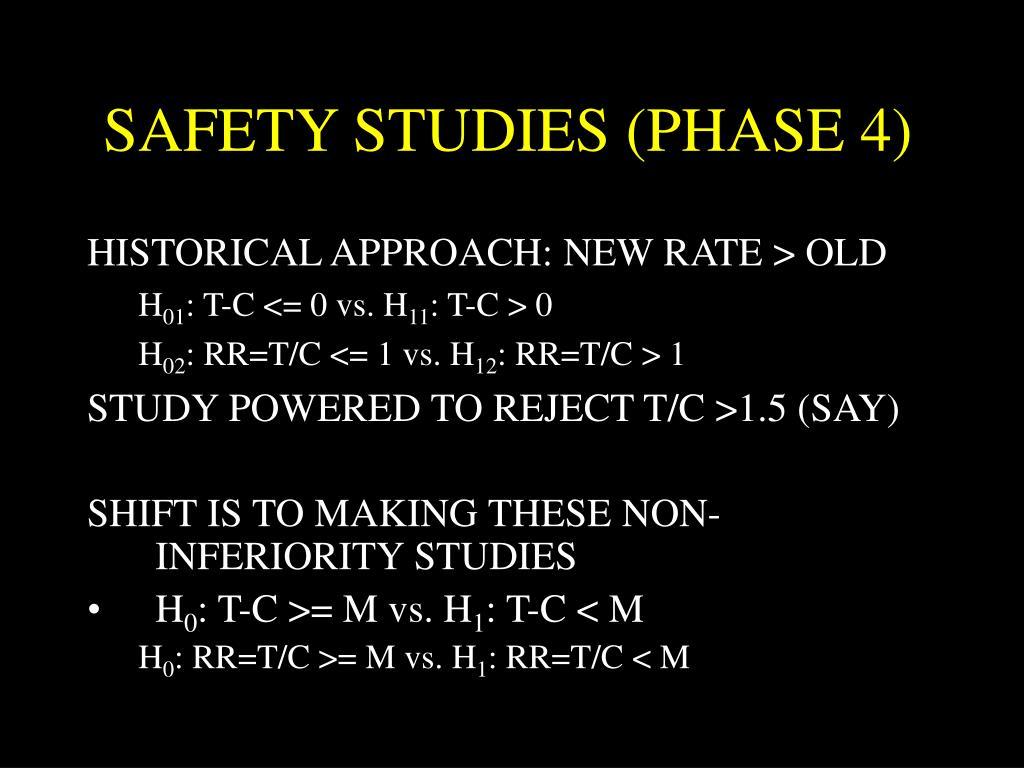 SAFETY STUDIES (PHASE 4)