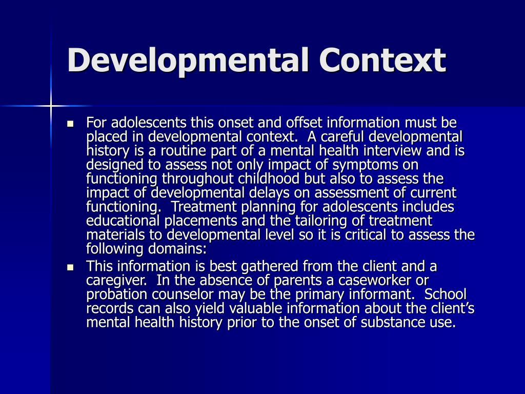 Developmental Context