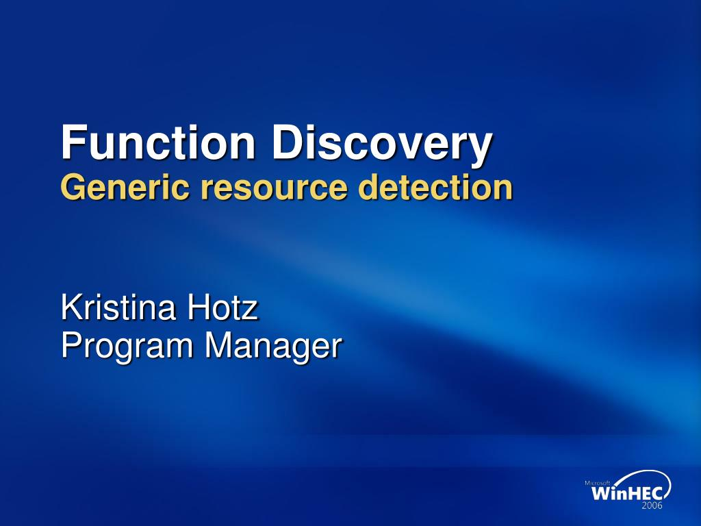 function discovery Start/stop function discovery resource publication service in windows 7 from services, regedit or cmd.