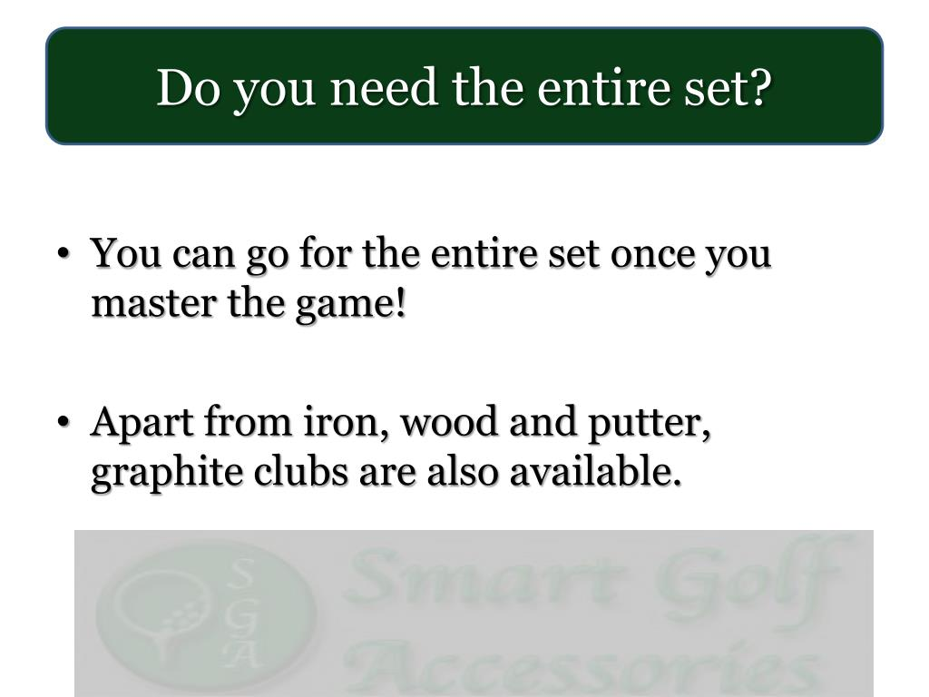 Do you need the entire set?