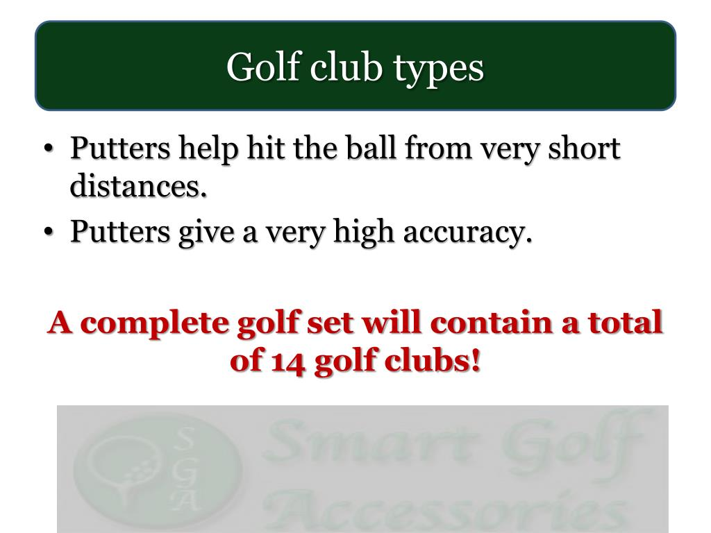 Golf club types