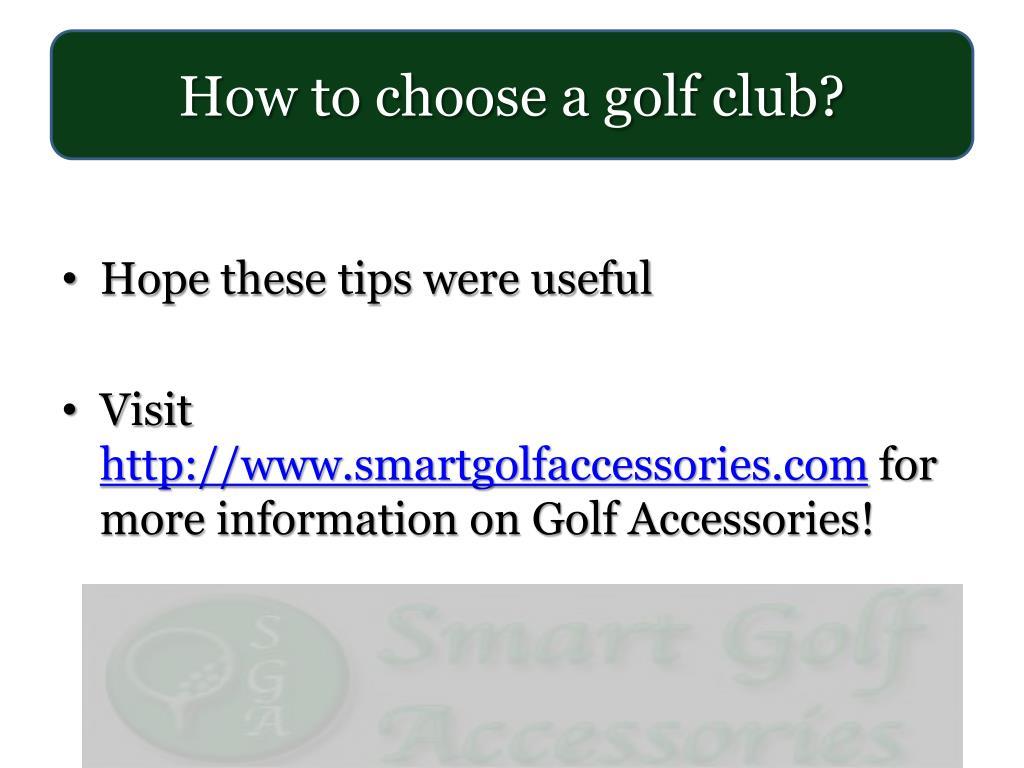 How to choose a golf club?