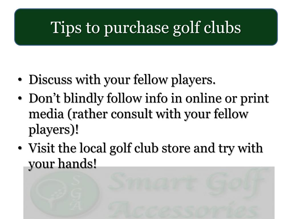 Tips to purchase golf clubs
