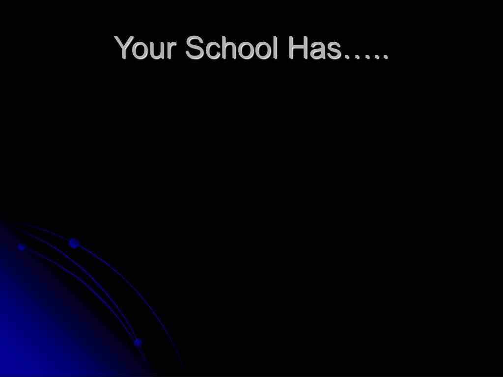 Your School Has…..