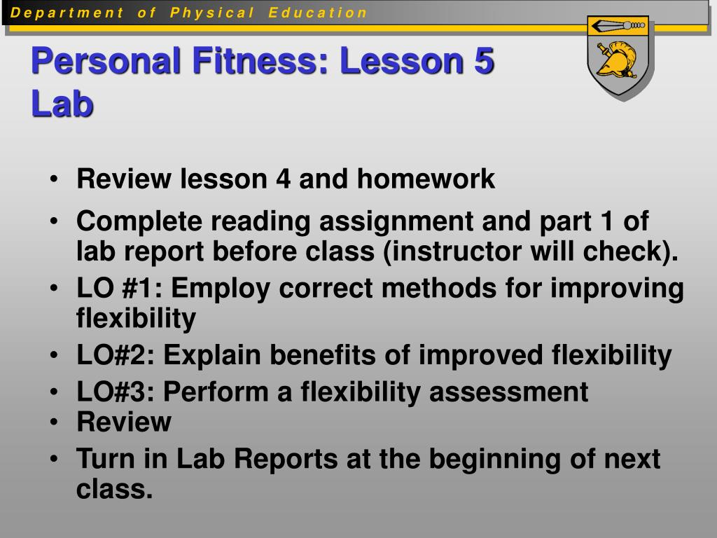 Personal Fitness: Lesson 5