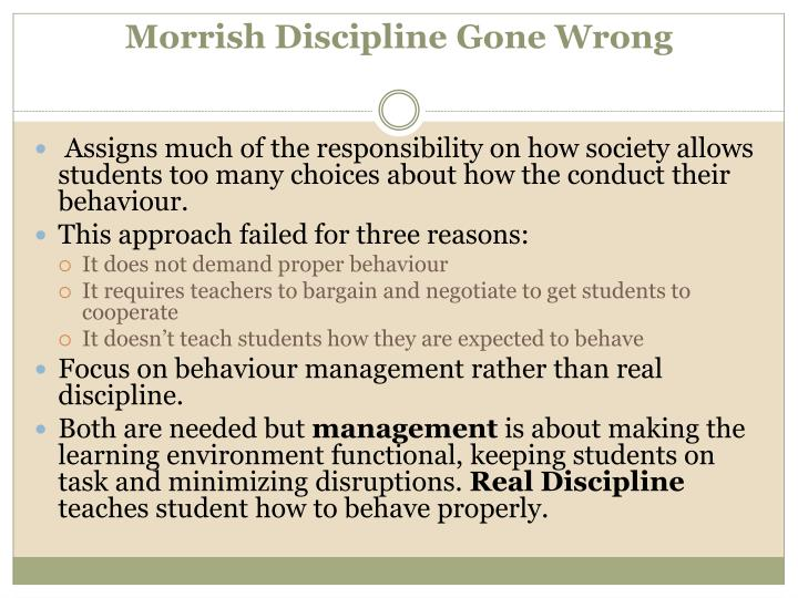 Morrish discipline gone wrong