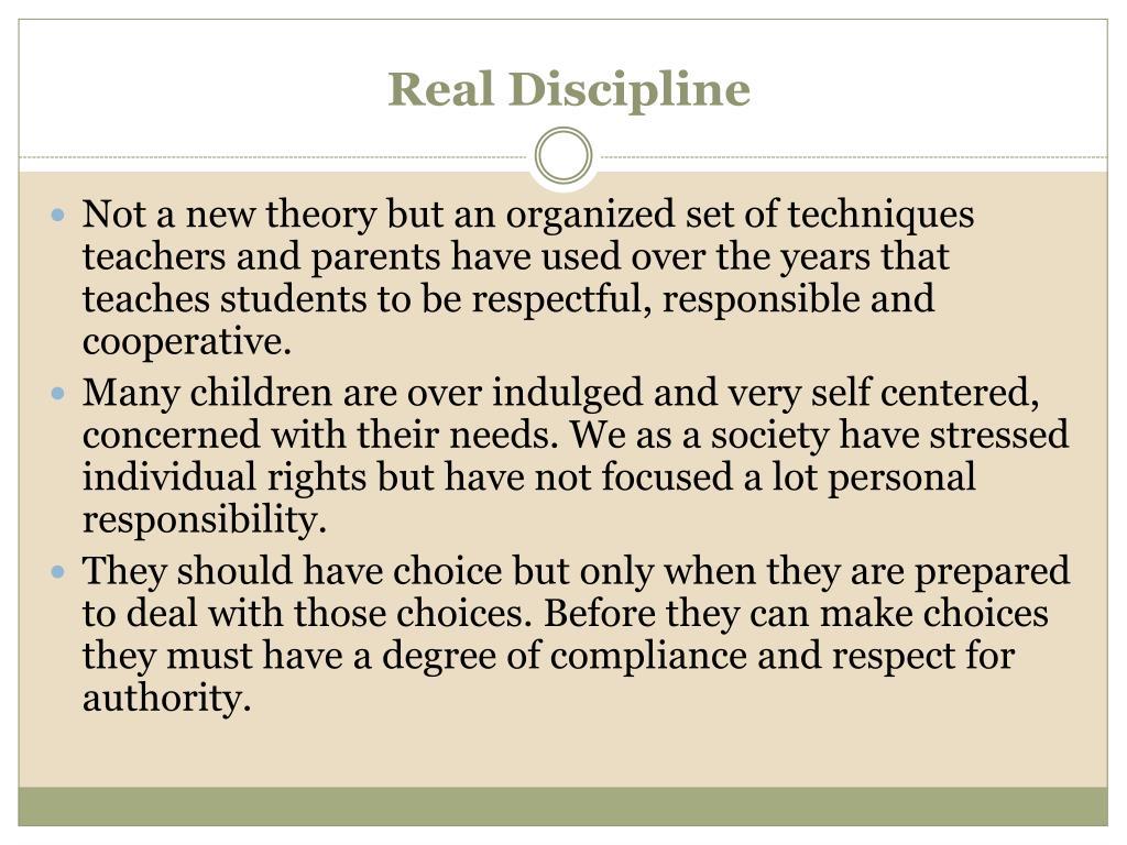 Real Discipline