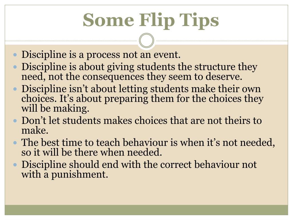 Some Flip Tips