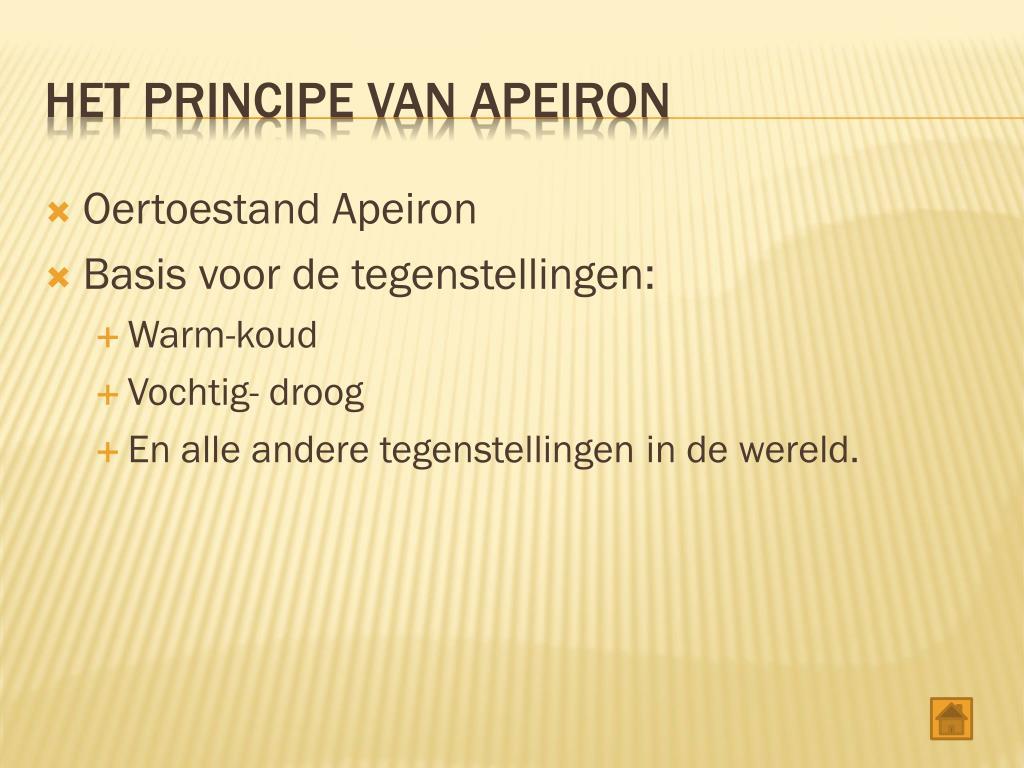Oertoestand Apeiron