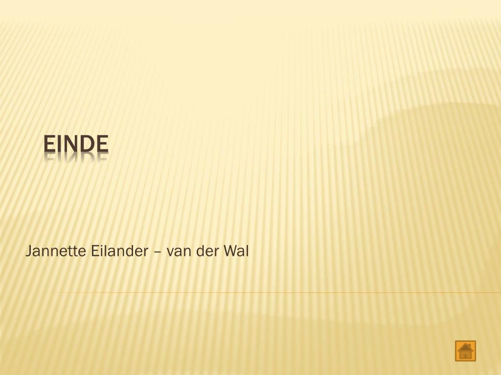 Jannette Eilander – van der Wal