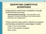 identifying competitive advantages37