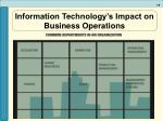 information technology s impact on business operations9