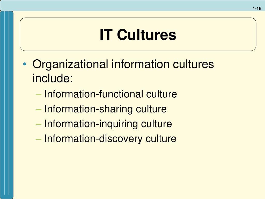 IT Cultures