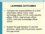 learning outcomes5