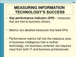 measuring information technology s success