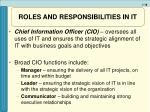 roles and responsibilities in it18