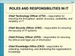 roles and responsibilities in it21