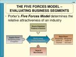 the five forces model evaluating business segments