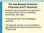 the gap between business personnel and it personnel