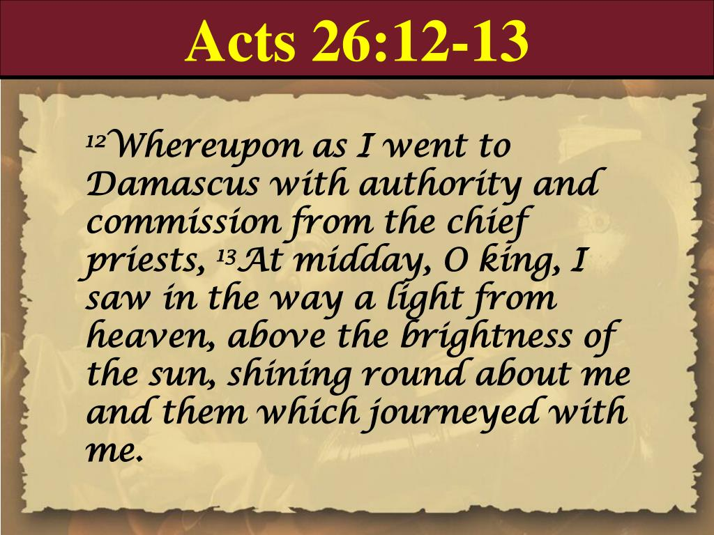 Acts 26:12-13
