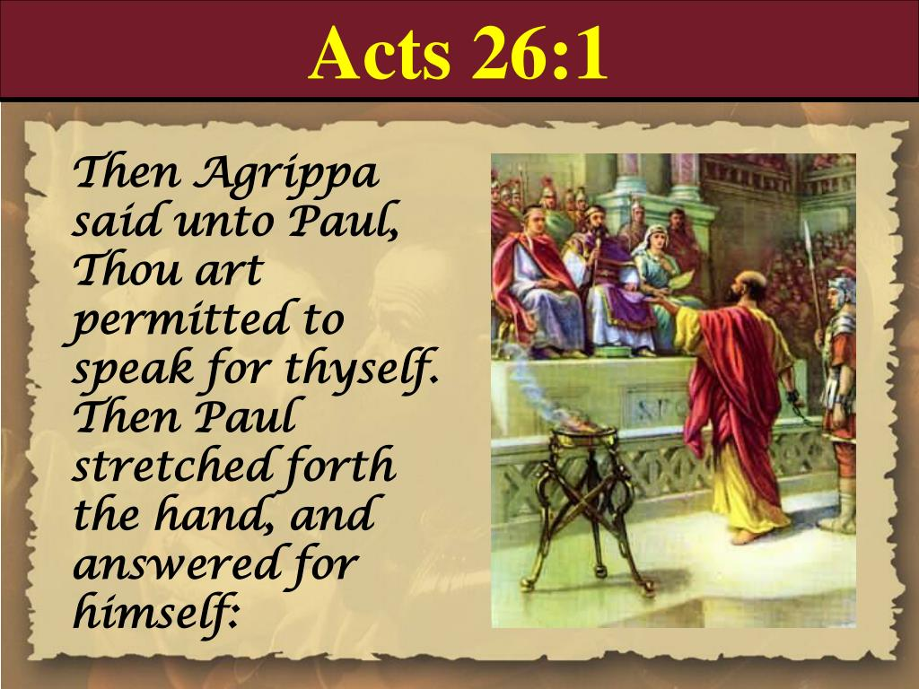 Acts 26:1