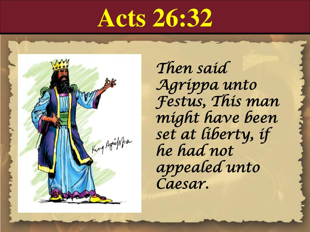 Acts 26:32