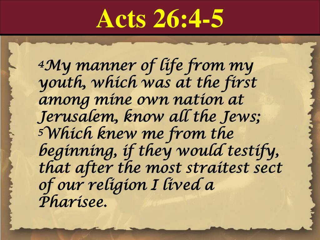 Acts 26:4-5