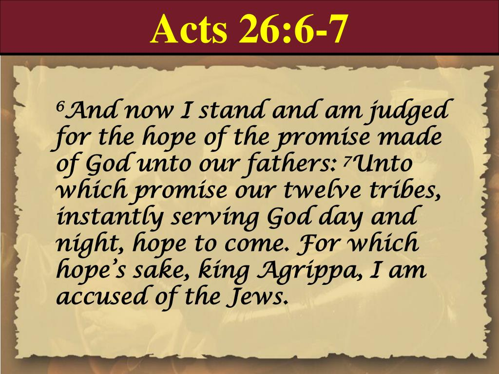 Acts 26:6-7