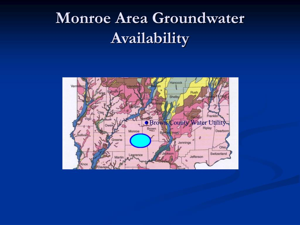 Monroe Area Groundwater Availability