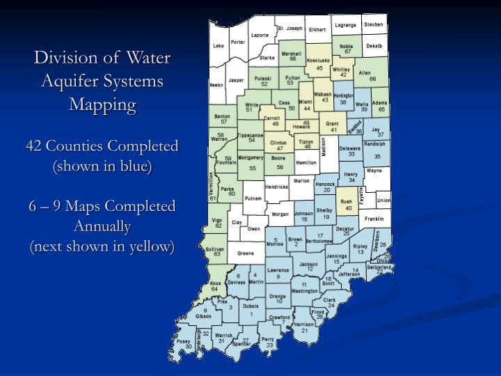 Division of Water Aquifer Systems Mapping
