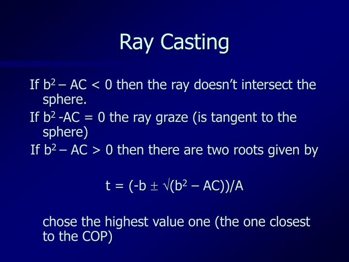 Ray Casting