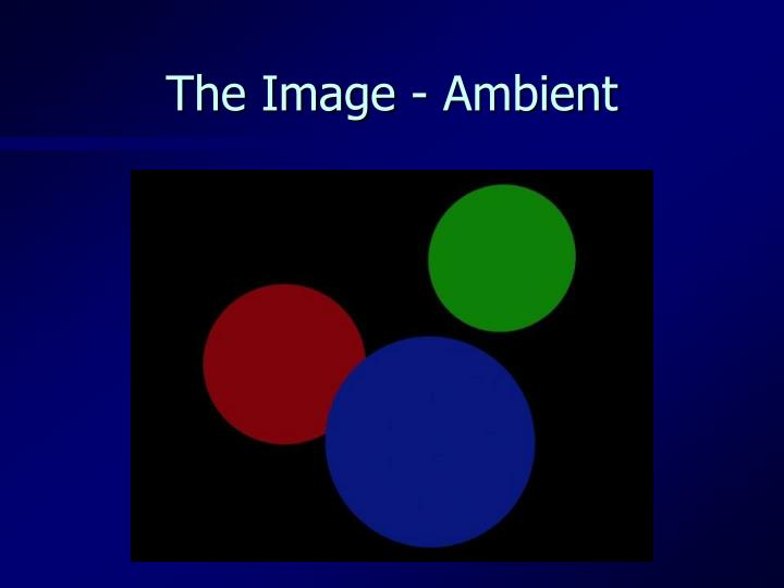 The Image - Ambient