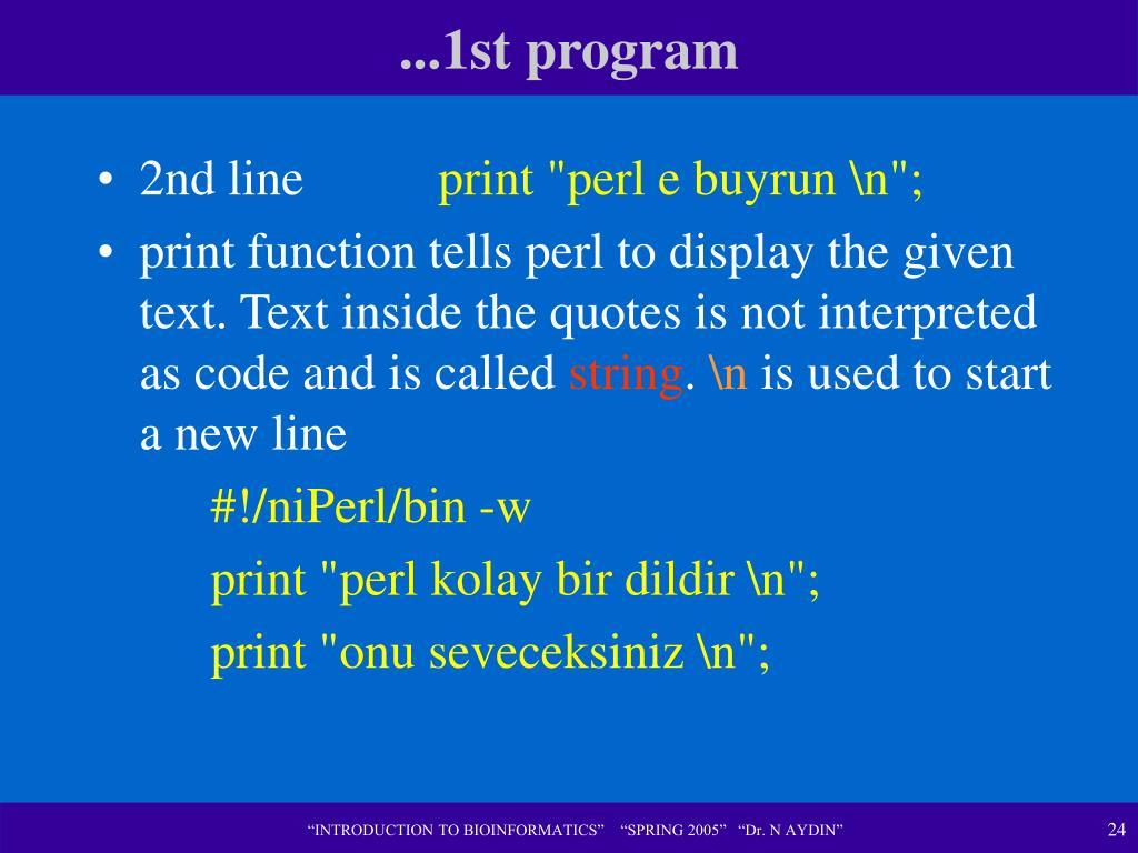 ...1st program