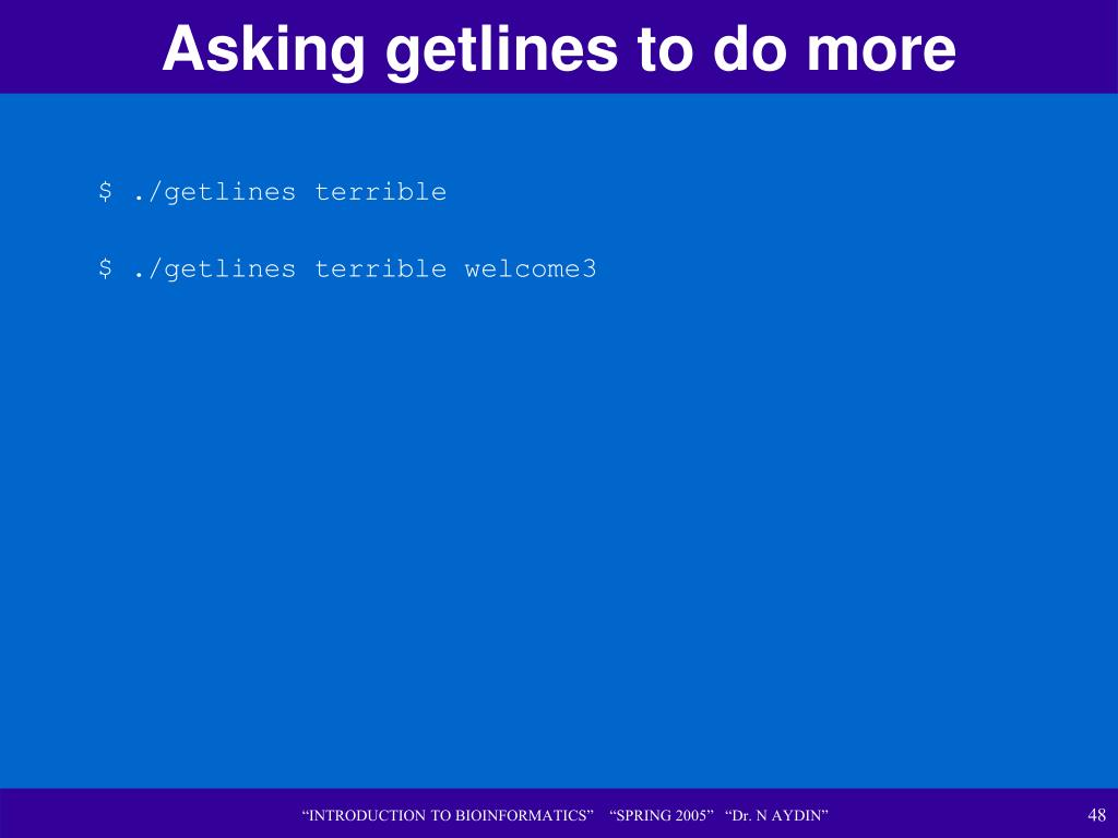 Asking getlines to do more