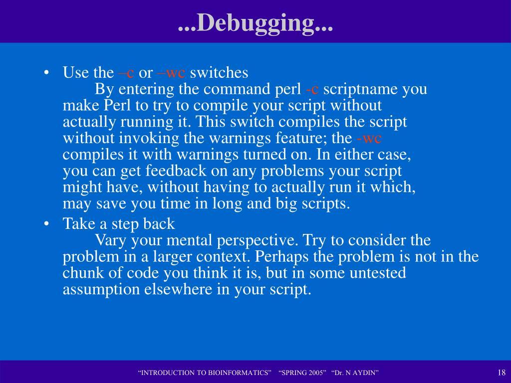 ...Debugging...