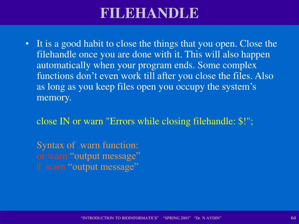 FILEHANDLE