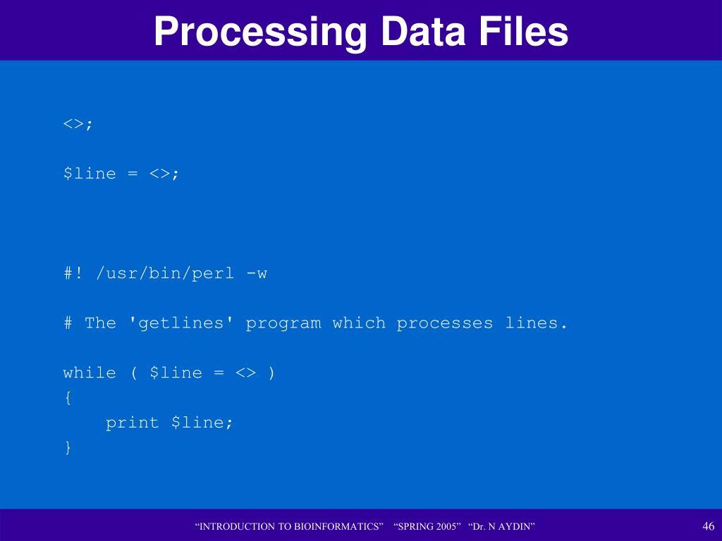 Processing Data Files