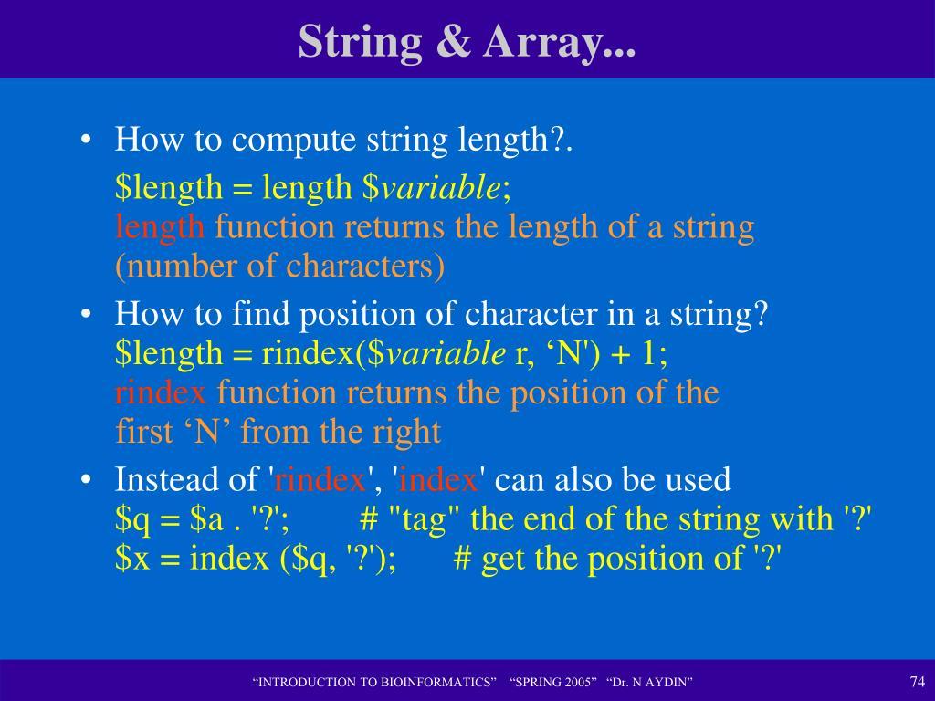 String & Array...