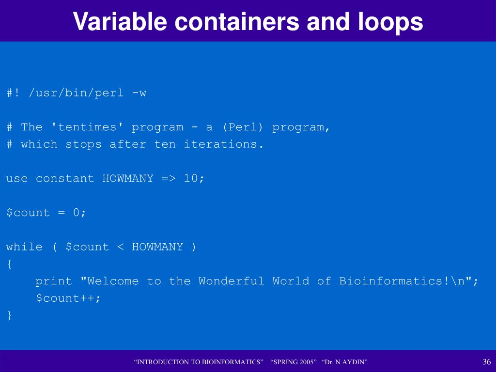 Variable containers and loops