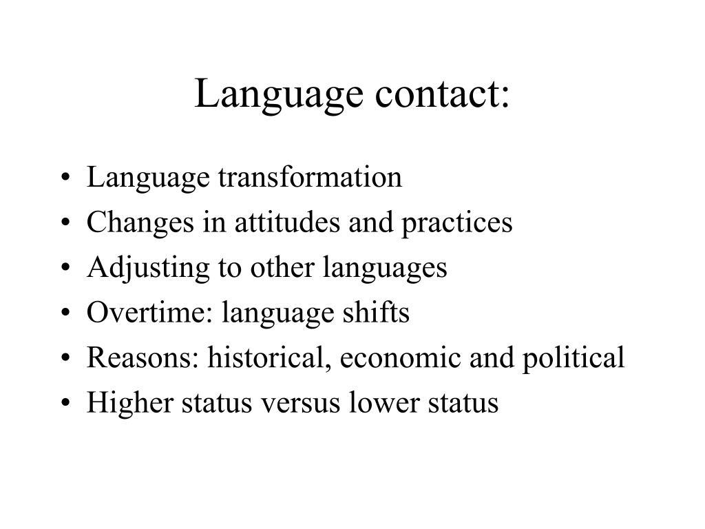 Language contact: