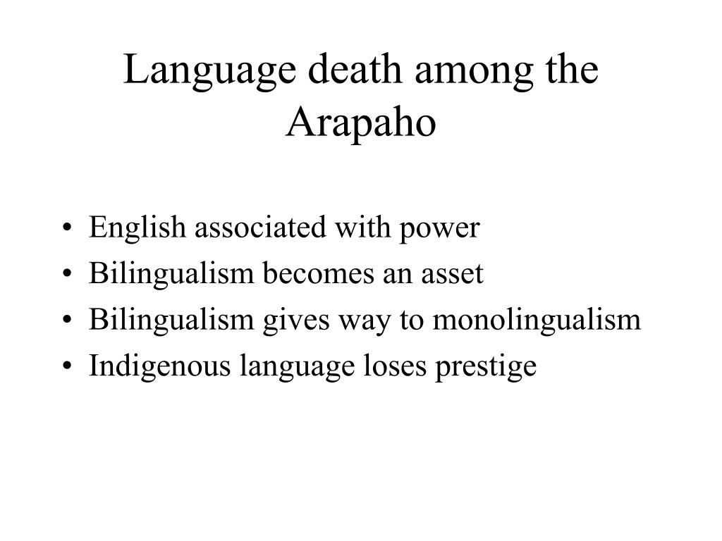 Language death among the Arapaho
